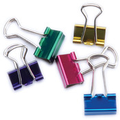 Baumgartens Mini Binder Clips 1/2' 12/Pkg-Assorted Colors Wholesale Bulk