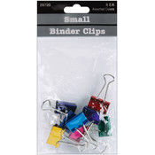 Baumgartens Small Binder Clips 3/4' 8/Pkg-Assorted Colors Wholesale Bulk