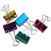 Baumgartens Medium Binder Clips 1' 5/Pkg-Assorted Colors Wholesale Bulk