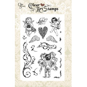 "Crafty Secrets Clear Art Stamp Medium 6""X4"" Sheet-"