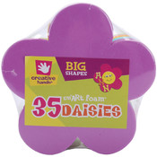 Foam Shapes 35/Pkg-Daisies Wholesale Bulk