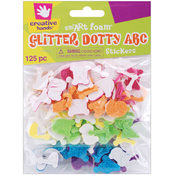 Foam Glitter Stickers 125/Pkg-Dotty ABC Wholesale Bulk