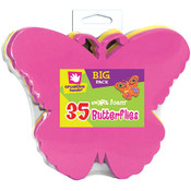 Foam Shapes 35/Pkg-Butterflies Wholesale Bulk