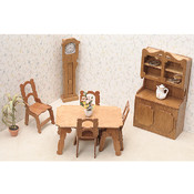 Dollhouse Furniture Kit-Dining Room Wholesale Bulk