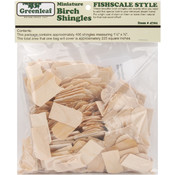 Dollhouse Shingles-Fishscale/Greenleaf Wholesale Bulk