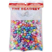 Pony Beads 6x9mm 900/Pkg-Pearl Multi
