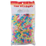 Pony Beads 6x9mm 900/Pkg-Glow Multi