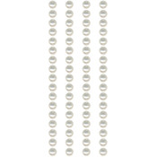 Crystal Stickers Pearls 5mm Round 68/Pkg-Natural Wholesale Bulk