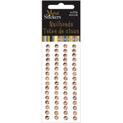 Metal Stickers Nailheads 5mm Round 64/Pkg-Brass
