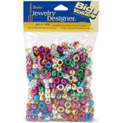 Pony Beads 6x9mm 380/Pkg-Metallic Multi