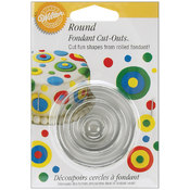 Fondant Cut-Outs 3/Pkg-Round Wholesale Bulk