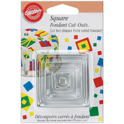 Fondant Cut-Outs 3/Pkg-Square Wholesale Bulk