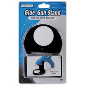 Glue Gun Stand W/Non-Stick Glue Pad-Black