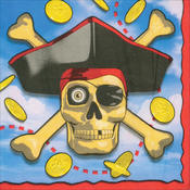 Beverage Napkins 16/Pkg-Pirates Bounty