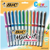 Bic Mark-It Permanent Markers Ultra Fine Point
