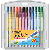 Bic Mark-It Permanent Markers Fine Point
