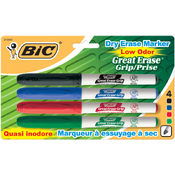 Bic Great Erase Low Odor Dry Erase Markers Fine