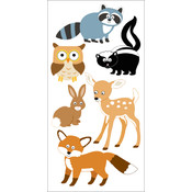"Dimensional Stickers 2.75""x6.75""-Woodland Animals"