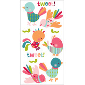 "Dimensional Stickers 2.75""x6.75"" Sheet-Tweet Tweet"