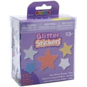 Foam Glitter Stickers 1.05 Ounces-Stars Wholesale Bulk