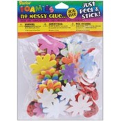 Foam Stickers 83/Pkg-Flower &amp;amp; Ladybug