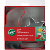 Jolly Shapes Metal Cookie Cutters, 4-Pack