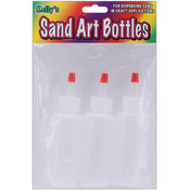 Sand Art Bottles 2 Ounces 3/Pkg-Clear