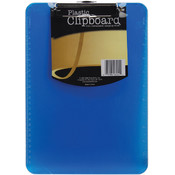 "Plastic Clipboard 9""X12.5""X.5""-Assorted Colors"