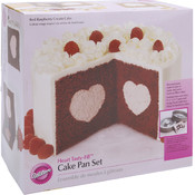 "Tasty-Fill Cake Pan Set-Heart 8.5"" x 2.75"""
