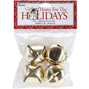 "Jingle Bells 1.375"" 4/Pkg-Gold"