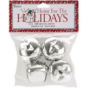 "Jingle Bells 1.375"" 4/Pkg-Silver"