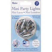 Non-Blinking Mini Party Lites 12/Pkg-White