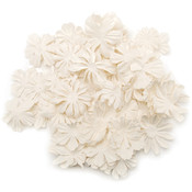 Prima Flowers Wildflower Pillar-White Wholesale Bulk