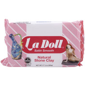 La Doll Natural Stone Clay 1.1 Pound-Satin Smooth Wholesale Bulk