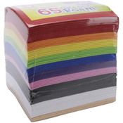Peel &amp;amp; Stick Foam Sheets 5.9&quot;X4.43&quot; 65/Pkg-Rainbow