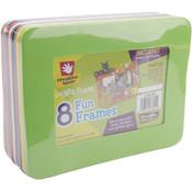 Foam Frames 3.5'X5.5' Rectangle 8/Pkg-Assorted Col Wholesale Bulk