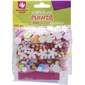 Foam Stickers 320/Pkg-Mini Flowers Wholesale Bulk