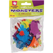 Foam Stickers 50/Pkg-Monsters Wholesale Bulk