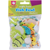 Foam Stickers 75/Pkg-Fish Bowl Wholesale Bulk