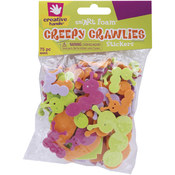 Foam Stickers 75/Pkg-Creepy Crawlies Wholesale Bulk