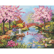 Paint By Number Kit 20&quot;X16&quot;-Japanese Garden