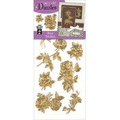 Dazzles Stickers-Gold Rose