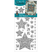 Dazzles Stickers-Silver Stacked Star
