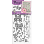 Dazzles Stickers-Silver Butterfly