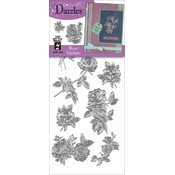 Dazzles Stickers-Silver Rose