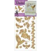 Dazzles Stickers-Gold Hummingbird