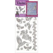 Dazzles Stickers-Silver Hummingbird
