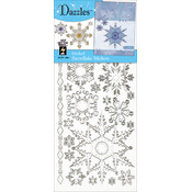 Dazzles Stickers-Silver Stitched Snowflakes