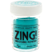 American Crafts Zing! Opaque Embossing Powder 1 Oz-Aqua Wholesale Bulk