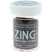 American Crafts Zing! Opaque Embossing Powder 1 Oz-Charcoal Wholesale Bulk